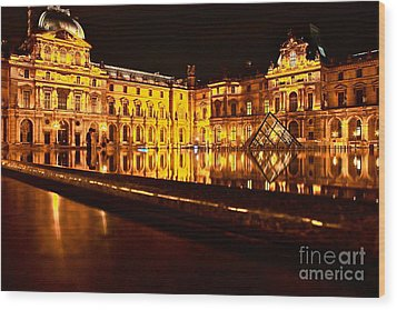 Wood Print featuring the photograph Louvre Pyramid by Danica Radman