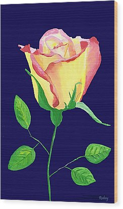 Wood Print featuring the painting Love In Bloom by Rodney Campbell