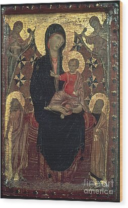 Madonna And Child Wood Print by Granger