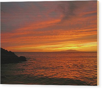 Makena Sunset Wood Print