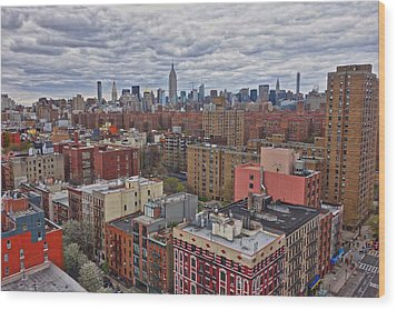 Wood Print featuring the photograph Manhattan Landscape by Joan Reese
