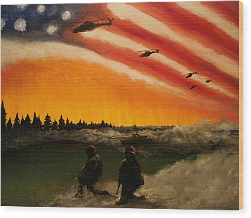 Marines Wood Print by Josh Burns