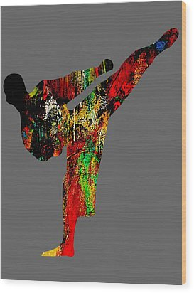 Martial Arts Collection Wood Print