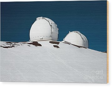 Mauna Kea Observatory Wood Print by Peter French - Printscapes