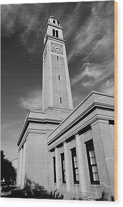 Memorial Tower - Lsu Bw Wood Print