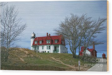 Wood Print featuring the photograph Michigan Lighthouse by Gina Cormier