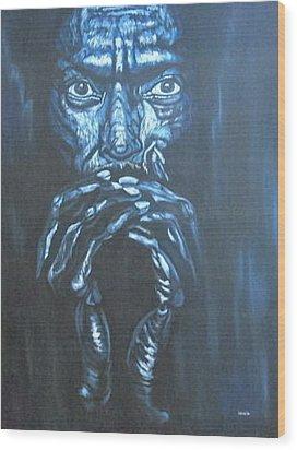 Miles Wood Print by Shahid Muqaddim