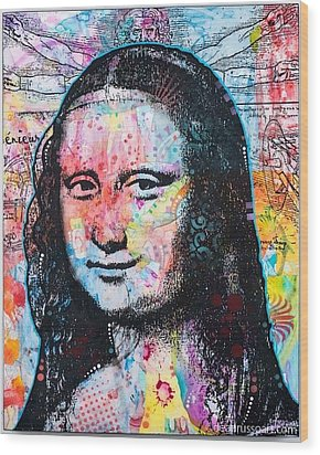 Wood Print featuring the painting Mona Lisa by Dean Russo