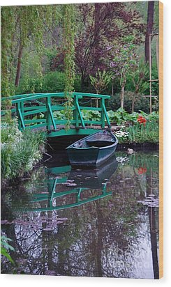 Monet Wood Print by Nancy Bradley