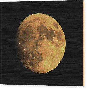 Moon Wood Print by Rowana Ray