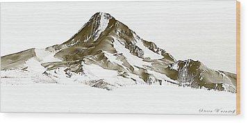 Mt. Hood Wood Print by Steve Warnstaff