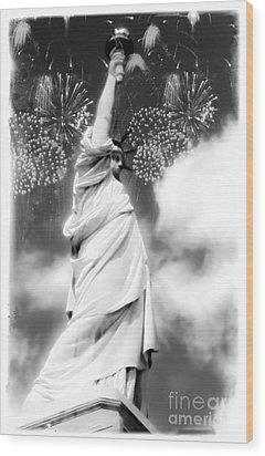 My Lady Liberty Wood Print by Janie Johnson