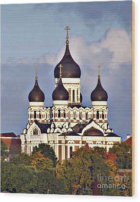 Nevsky Cathedral Estonia Wood Print