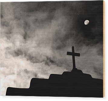 New Mexico Moon Wood Print