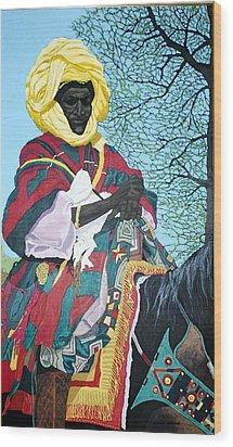 Nigerian On Horseback Wood Print