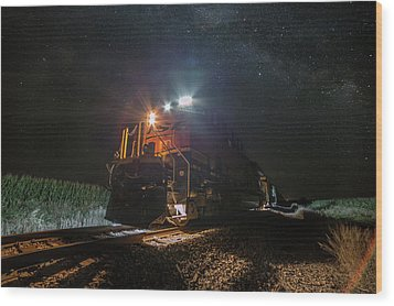 Wood Print featuring the photograph Night Train  by Aaron J Groen