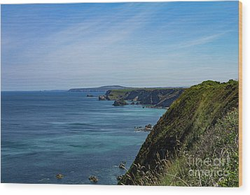 Wood Print featuring the photograph North Coast Cornwall by Brian Roscorla