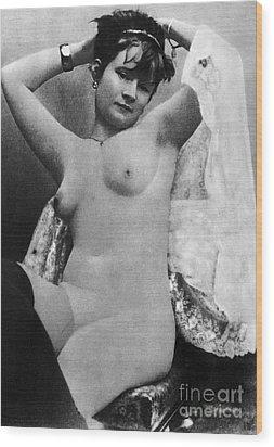 Nude Posing, C1888 Wood Print by Granger