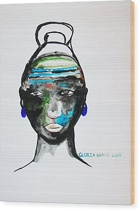 Nuer Bride - South Sudan Wood Print by Gloria Ssali