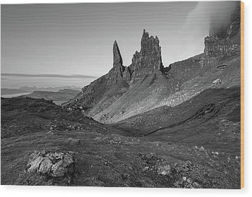 Wood Print featuring the photograph Old Man Of Storr by Davorin Mance