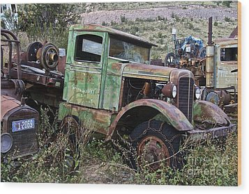 Old Truck Wood Print by Anthony Jones