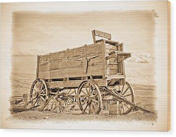 Old West Wagon  Wood Print by Steve McKinzie