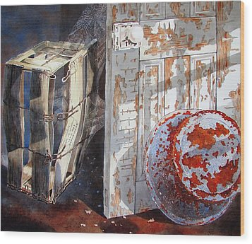 Wood Print featuring the painting Once by Tony Caviston