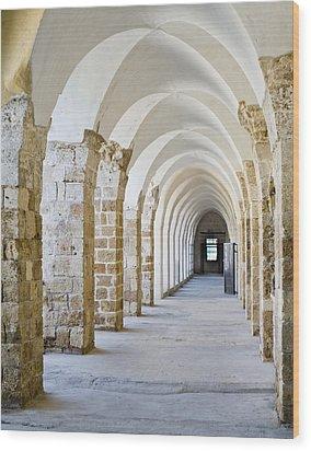 Ottoman-style Arched Corridor Wood Print by Noam Armonn