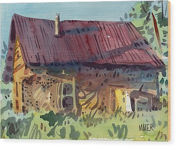 Outbuilding Wood Print by Donald Maier