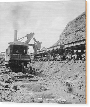 Panama Canal - Construction - C 1910 Wood Print by International  Images