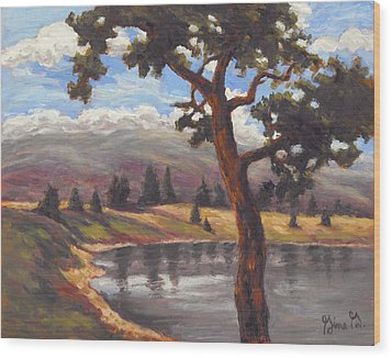 Pinon View Wood Print