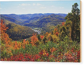 Point Mountain Overlook Wood Print by Thomas R Fletcher