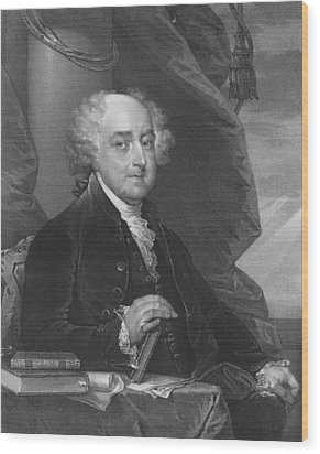 President John Adams Wood Print by War Is Hell Store