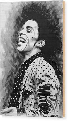 Wood Print featuring the painting Prince by Darryl Matthews