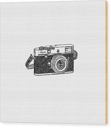Rangefinder Camera Wood Print