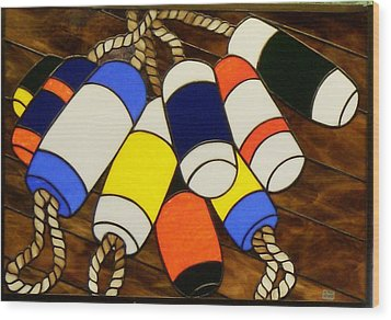 Ready For Work Wood Print by Jane Croteau