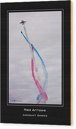 Red Arrows Wood Print by Mathias Rousseau