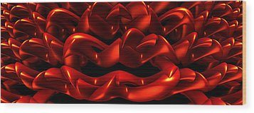 Wood Print featuring the digital art Red by Lyle Hatch