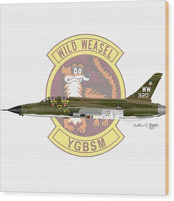 Republic F-105g Thunderchief 561tfs Wood Print by Arthur Eggers