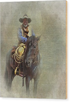 Wood Print featuring the photograph Ride Em Cowboy by David and Carol Kelly