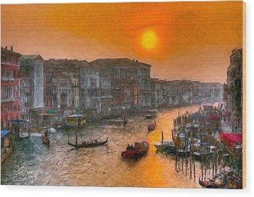 Wood Print featuring the photograph Riva Del Ferro. Venezia by Juan Carlos Ferro Duque