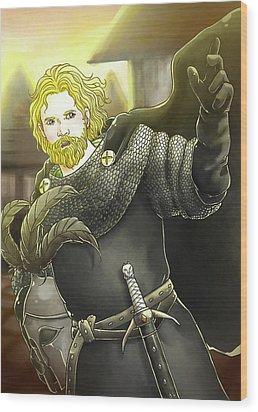 Robin Hood Baron Fitzwalter Wood Print by Reynold Jay