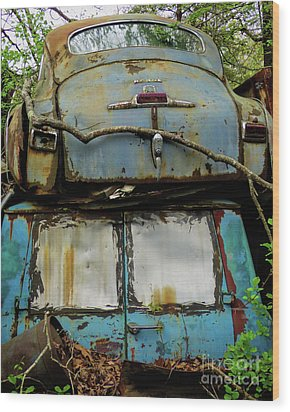 Rusted Series Wood Print by Laura Atkinson