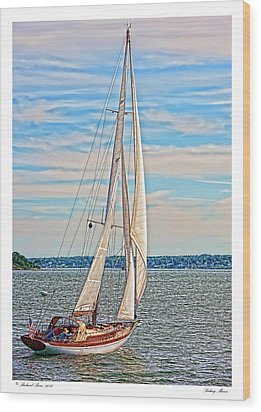 Wood Print featuring the photograph Sailing Maine by Richard Bean