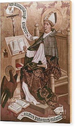 Saint Augustine (354-430) Wood Print by Granger