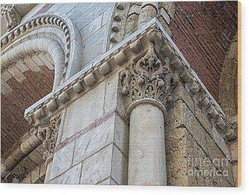 Wood Print featuring the photograph Saint Sernin Basilica Architectural Detail by Elena Elisseeva
