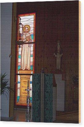 San Bernardo Abad Wood Print