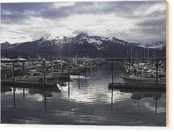 Seward Harbor Wood Print