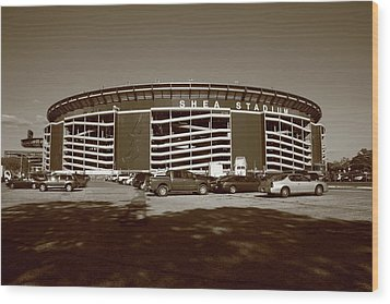 Shea Stadium - New York Mets Wood Print by Frank Romeo