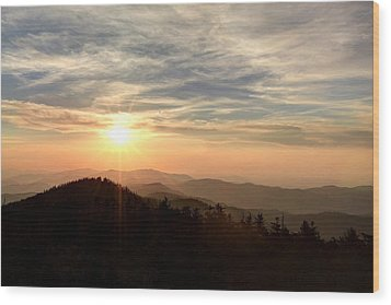 Smoky Mountain Sunset Wood Print by Doug McPherson